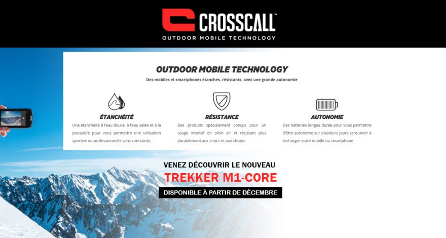portable de chantier crosscall